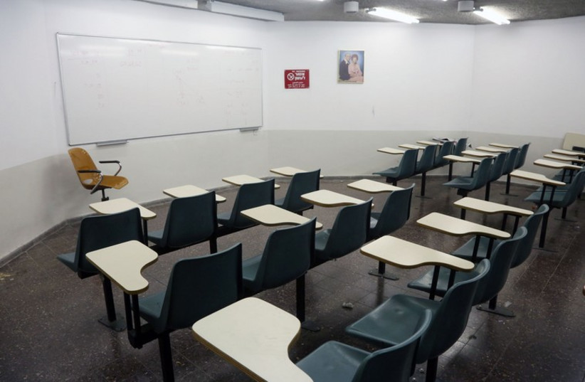 Empty Classroom (photo credit: MARC ISRAEL SELLEM/THE JERUSALEM POST)