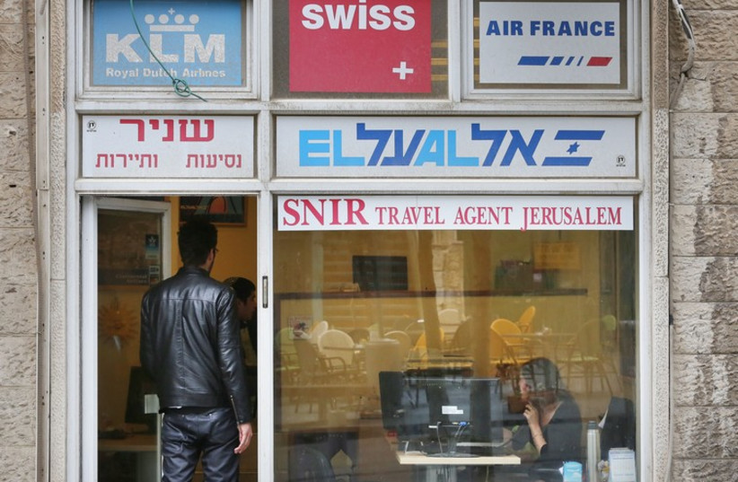 Travel agency in Jerusalem (photo credit: MARC ISRAEL SELLEM/THE JERUSALEM POST)