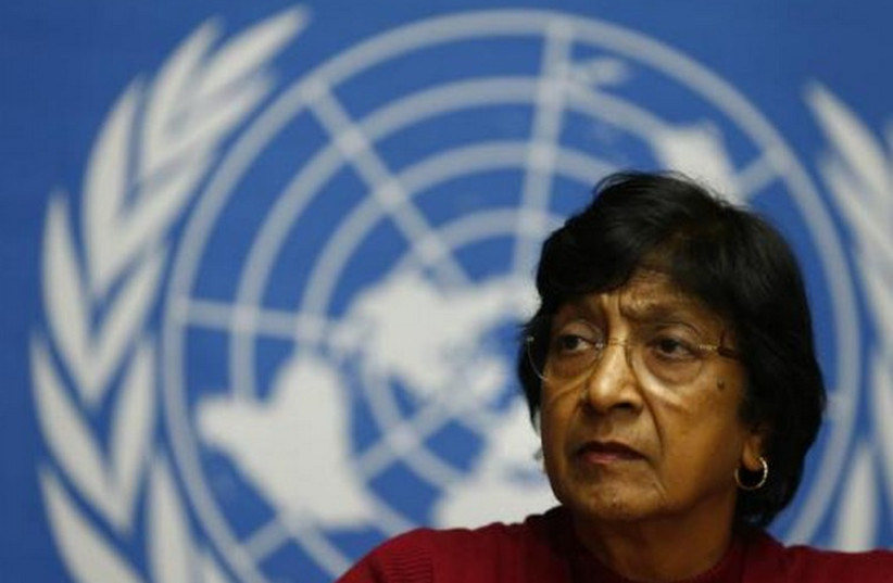United Nations High Commissioner for Human Rights Navi Pillay. (photo credit: REUTERS)