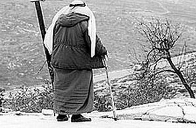 arab man with cane298.88 (photo credit: Ariel Jerozolimski [file])