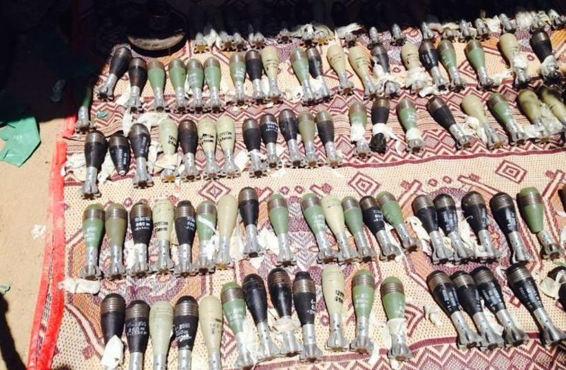 IDF discovers 150 mortars in Gaza (photo credit: IDF SPOKESMAN'S OFFICE)