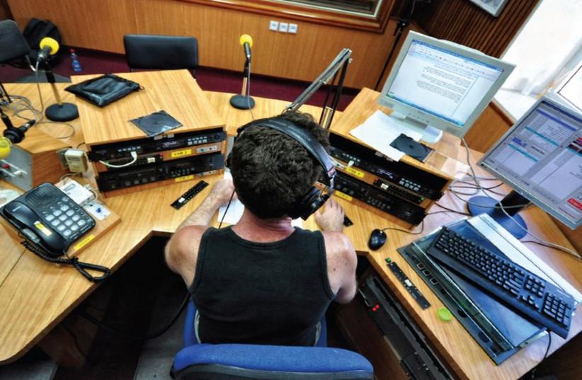 A broadcasting room at Israel Radio (photo credit: COURTESY IBA)