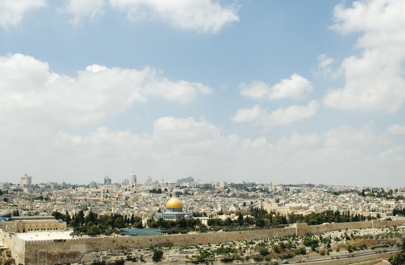 A view of the Old City of Jerusalem and the Temple Mount from the Mount of Olives. (photo credit: MARC ISRAEL SELLEM/THE JERUSALEM POST)