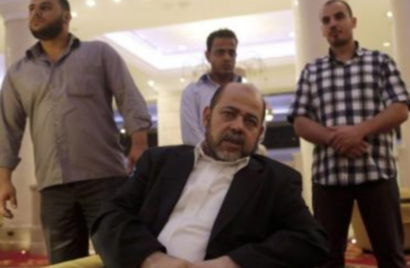 Deputy chairman of Hamas' political bureau Moussa Abu Marzouk during an interview in Cairo, August 9, 2014. (photo credit: REUTERS)