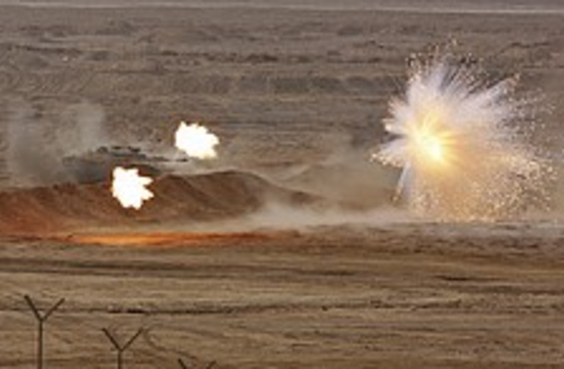 IDF tank flare cool 224 88 ap (photo credit: AP)