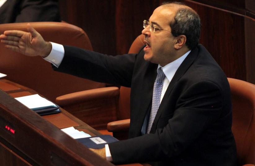 MK Ahmed Tibi (UAL - Ta'al) in the Knesset. (photo credit: MARC ISRAEL SELLEM/THE JERUSALEM POST)
