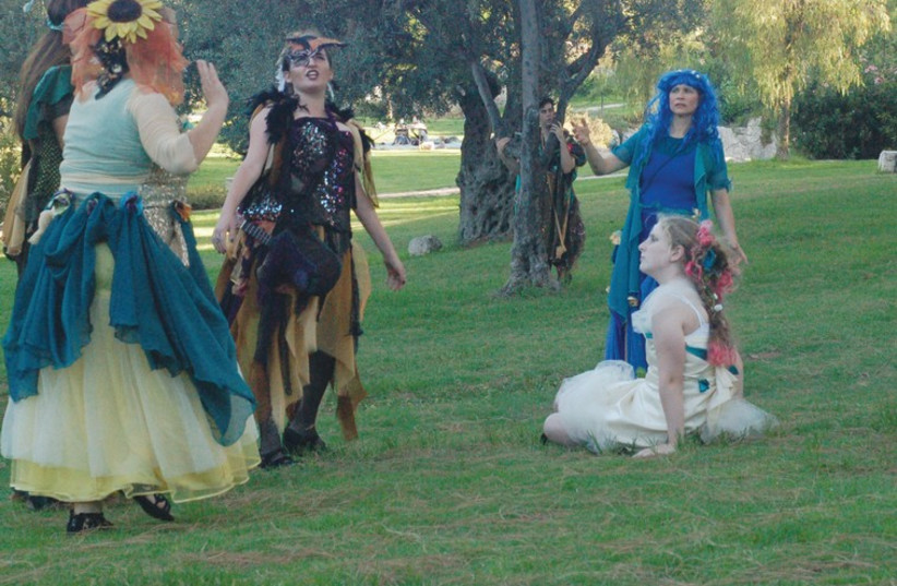 A scene from Theater in the Rough's 'A Midsummer Night's Dream.'  (photo credit: CHRISTINE RYTTER)