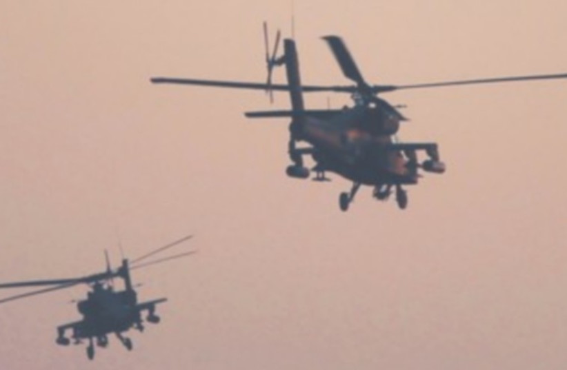Egyptian Apache helicopters  (photo credit: REUTERS)