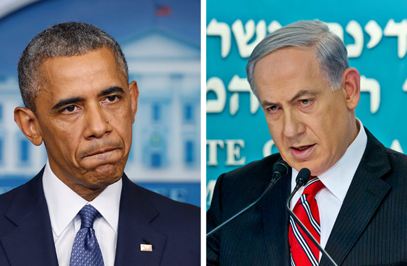 Obama and Netanyahu (photo credit: REUTERS)
