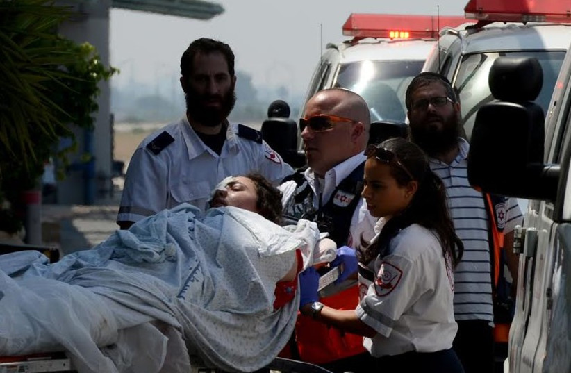 Mission to evacuate Gaza wounded to Turkey (photo credit: MAGEN DAVID ADOM)