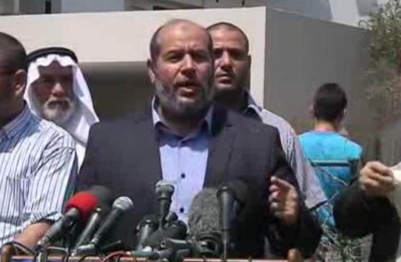 Senior Hamas leader Khalil al-Hayya. (photo credit: screenshot)