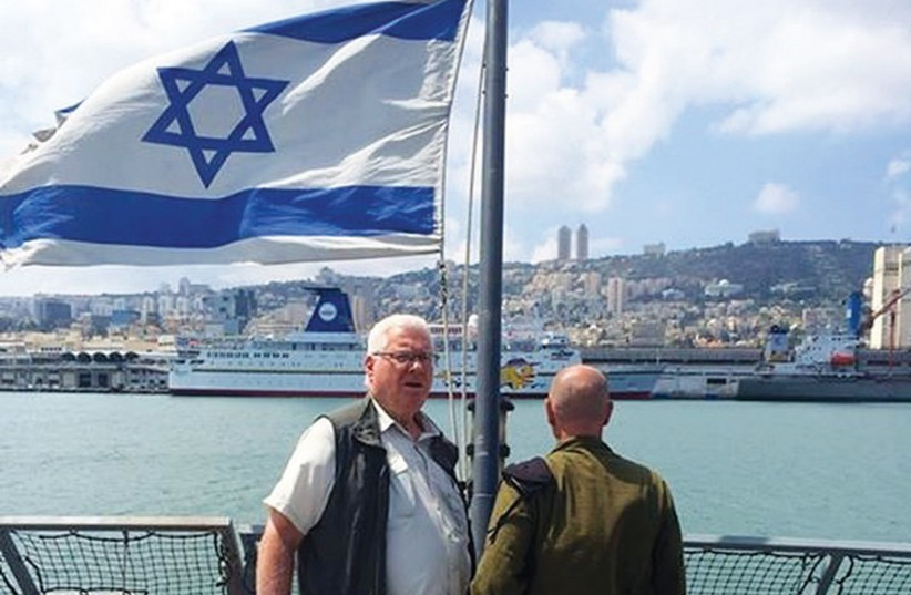 Richard Hellman during his current solidarity mission to Israel. (photo credit: Courtesy)