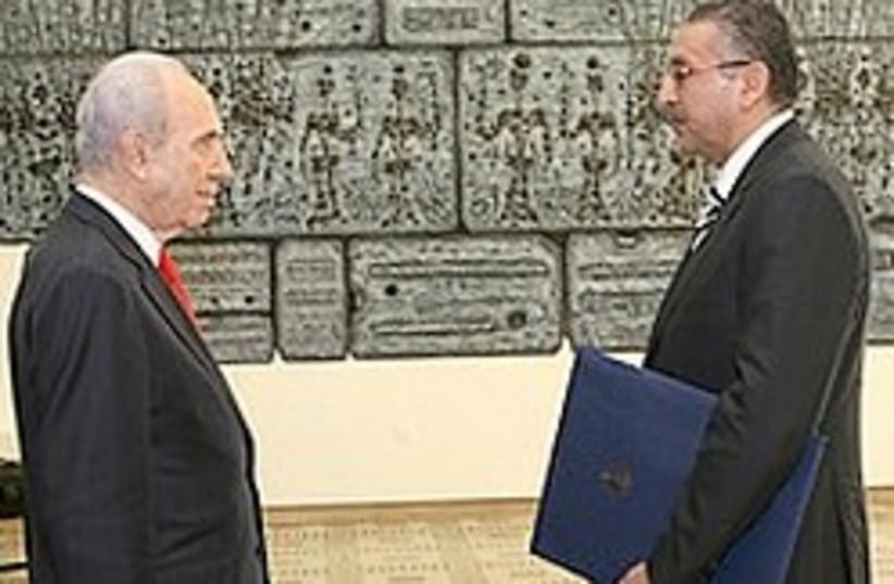 Egyptian Ambassador Peres 248 88 (photo credit: Ariel Jerozolimski [file])