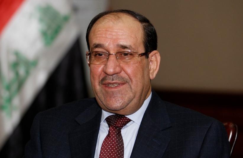 Outgoing Iraqi Prime Minister Nuri al-Maliki. (photo credit: REUTERS)