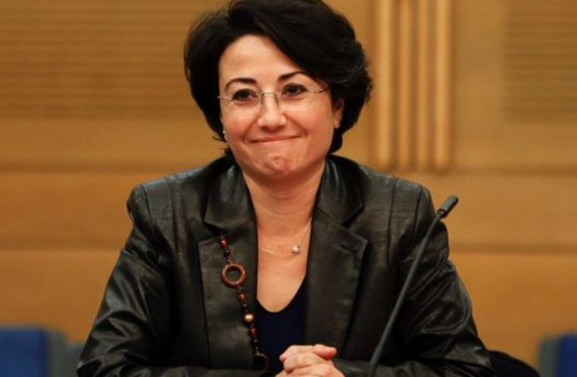 Balad MK Haneen Zoabi at the Knesset. (photo credit: REUTERS)