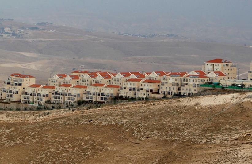 A view of Ma'aleh Adumim, near Jerusalem. (photo credit: REUTERS)