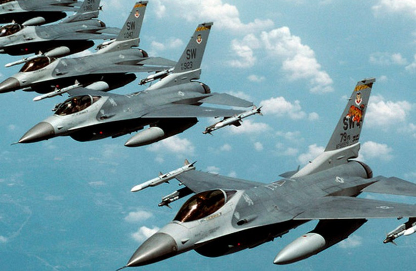 US-made F-16 fighter jets in action. (photo credit: REUTERS)