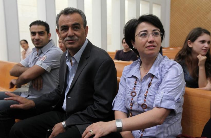 Haneen Zoabi and Jamal Zahalka (photo credit: MARC ISRAEL SELLEM/THE JERUSALEM POST)