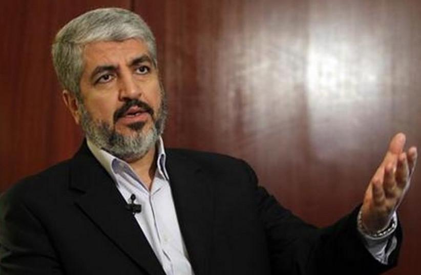 Hamas political bureau chief Khaled Mashaal. (photo credit: REUTERS)