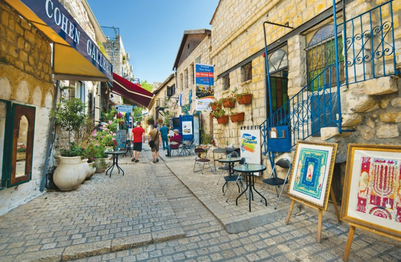 The artists colony provides a great place to walk around. (photo credit: ISRAEL TOURISM MINISTRY)