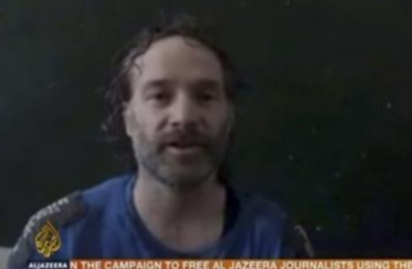 Peter Theo Curtis, an American journalist held in Syria (photo credit: REUTERS)