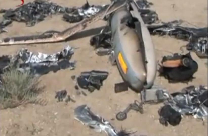 Iran displays alleged Israeli spy drone (photo credit: screenshot)