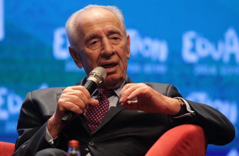 Former president Shimon Peres at the EduAction Forum. (photo credit: DAN BLILATI)
