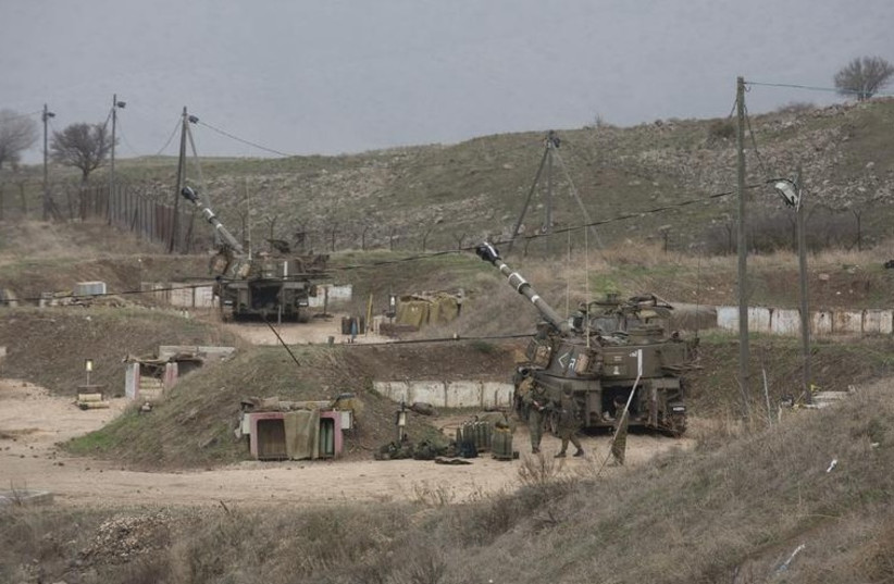 IDF troops stationed near Kiryat Shmona in the north. (photo credit: REUTERS)