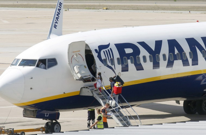 A Ryanair airplane (photo credit: REUTERS)