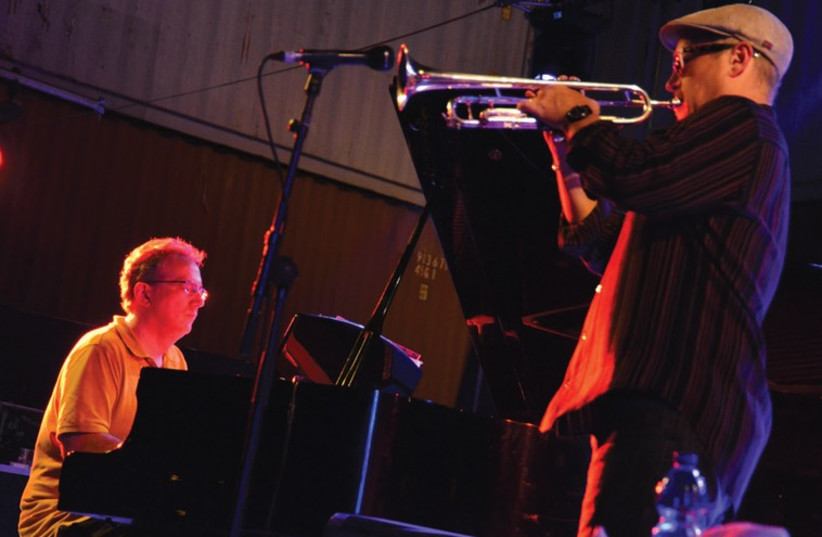 AMERICAN TWOSOME of trumpeter Dave Douglas and pianist Uri Caine perform at the Red Sea Jazz Festival. (photo credit: DIGI DECKEL)