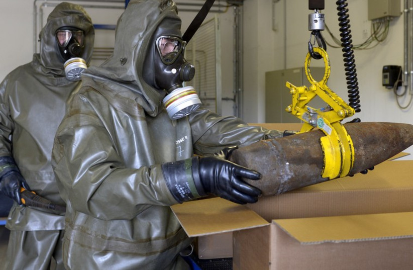 Chemical weapons disposal [file] (photo credit: REUTERS)