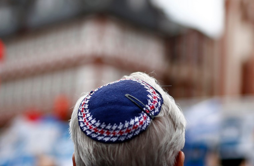 A man wears a kippa.  (photo credit: REUTERS)
