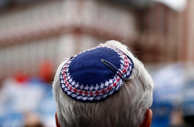 A man wears a kippa.  (photo credit: REUTERS)