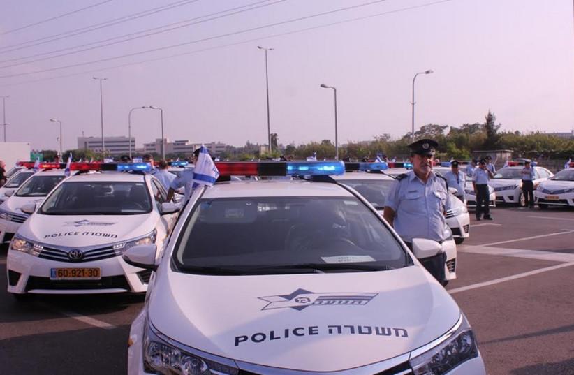 The christening of a new fleet of traffic police cruisers. (photo credit: YEHONATAN SABBAN)