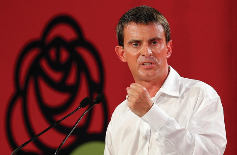 FRENCH PRIME MINISTER Manuel Valls (photo credit: REUTERS)