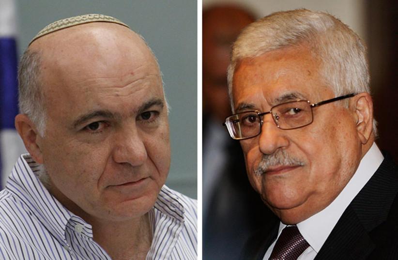 Yoram Cohen and Abu Mazen (photo credit: REUTERS,MARC ISRAEL SELLEM/THE JERUSALEM POST)