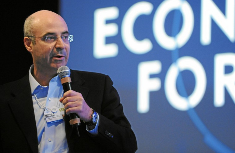 WILLIAM F. BROWDER speaks at the 2011 annual meeting of the World Economic Forum in Davos, Switzerland. (photo credit: COURTESY WORLD ECONOMIC FORUM)