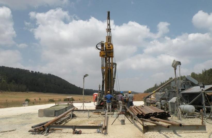 IEI's exploratory oil shale drilling site at Zoharim (photo credit: SHARON UDASIN)