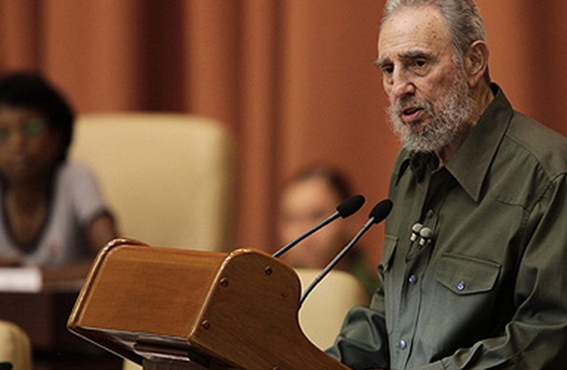 Former Cuban president Fidel Castro. (photo credit: REUTERS)