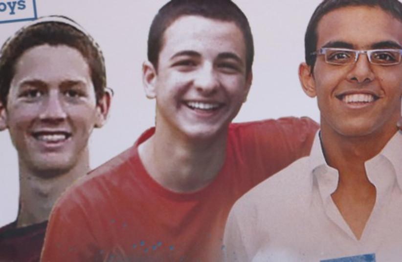 Kidnapped Israeli teens (photo credit: REUTERS)