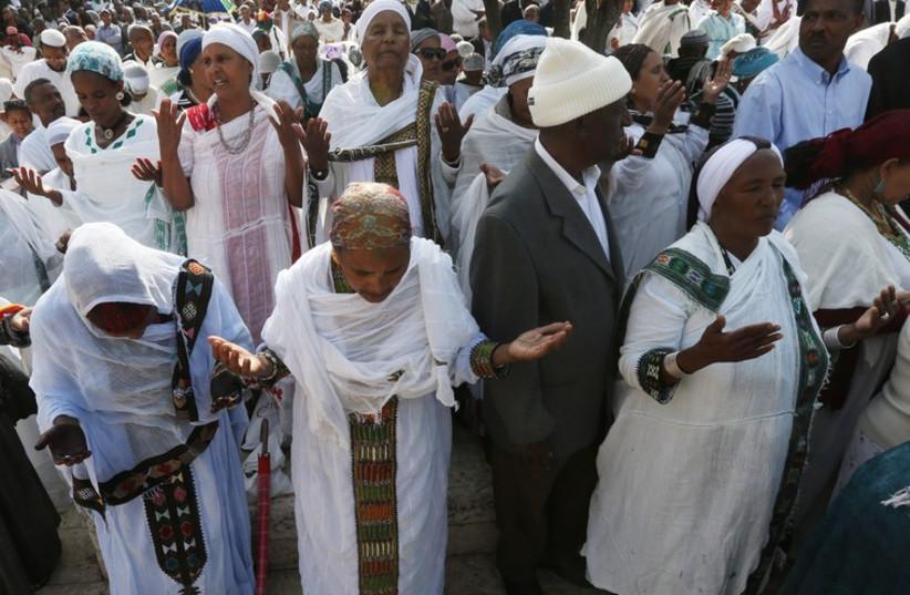Ethiopians celebrating in Jerusalem (photo credit: MARC ISRAEL SELLEM/THE JERUSALEM POST)