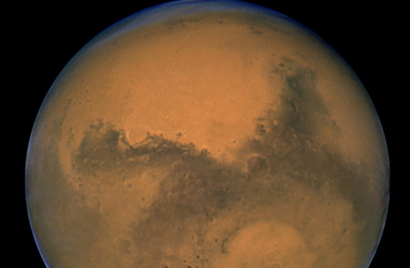 Mars as seen from Hubble telescope (photo credit: REUTERS)