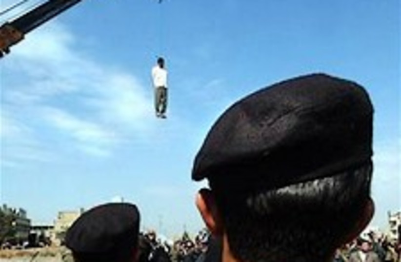 Iran hanging 224.88 (photo credit: AP)