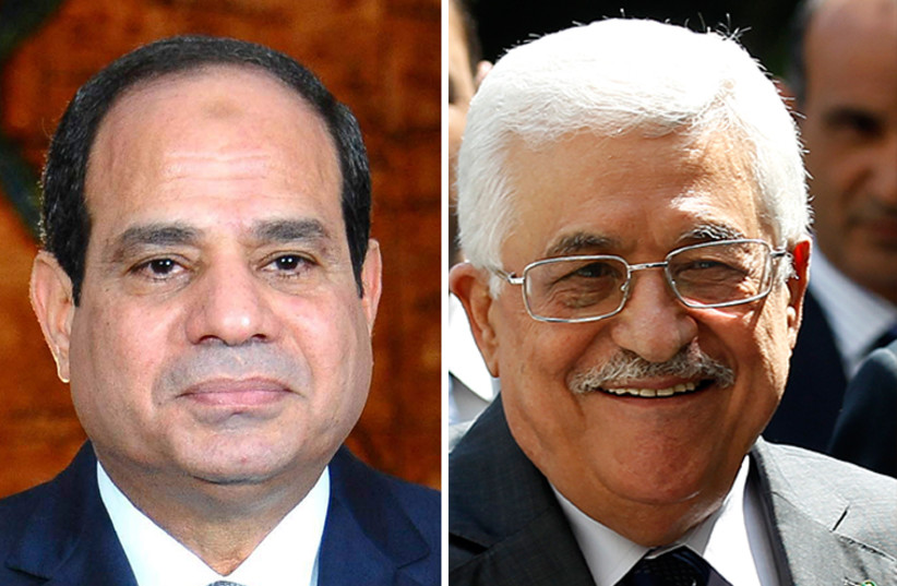 Sisi and Abu-Mazen (photo credit: REUTERS)