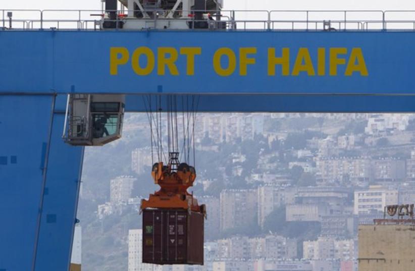 Port of Haifa (photo credit: REUTERS)