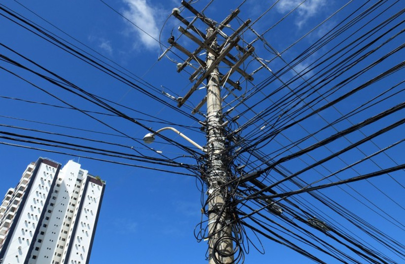 Electric poles (photo credit: REUTERS)