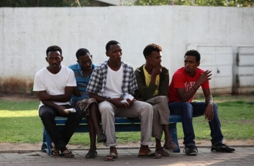 Eritrean migrants in Tel Aviv. (photo credit: MARC ISRAEL SELLEM/THE JERUSALEM POST)