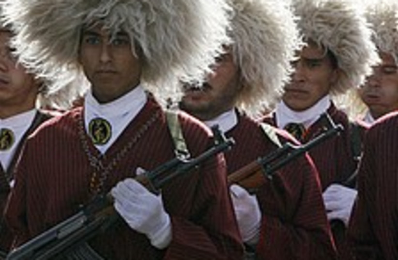 iran revolutionary guards white wigs 224 (photo credit: AP)