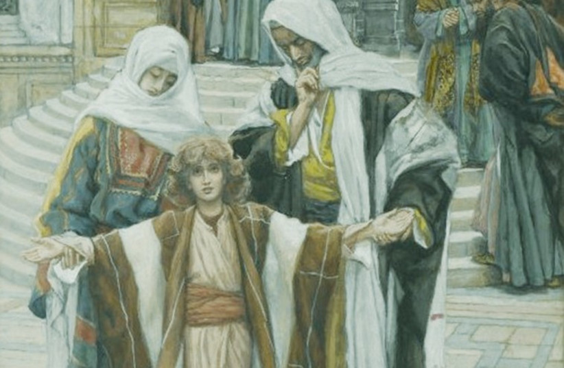 'Jesus found in the Temple' by James Tissot (photo credit: Wikimedia Commons)