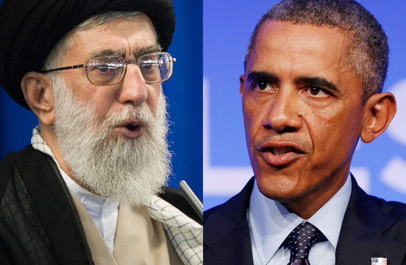 Obama and Khamenei (photo credit: REUTERS)